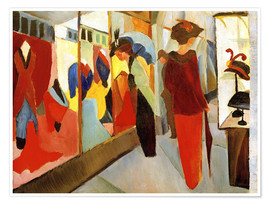 Poster Premium  Fashion Store - August Macke