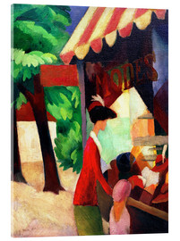 Stampa su vetro acrilico  Before Hat Shop - August Macke