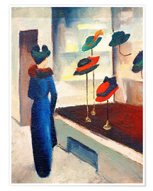 Poster Premium  Hat Shop - August Macke