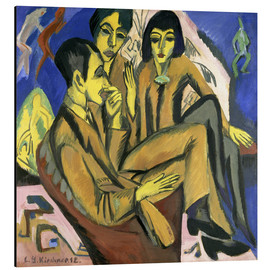 Stampa su alluminio  Group of artists, a conversation among artists - Ernst Ludwig Kirchner