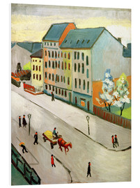 Stampa su schiuma dura  Our Street in Grey - August Macke