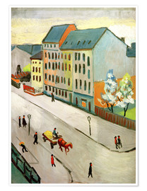 Poster  Our Street in Grey - August Macke