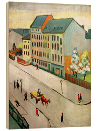 Stampa su legno  Our Street in Grey - August Macke