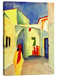 Stampa su tela  Vicolo in Tunisi - August Macke