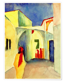 Poster Premium  Vicolo in Tunisi - August Macke