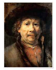 Poster Premium Rembrandt, the small self-portrait