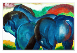 Poster Small Blue Horses