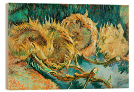 Legno  Four Cut Sunflowers - Vincent van Gogh
