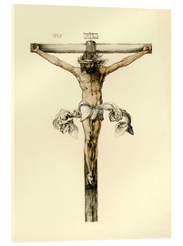 Stampa su vetro acrilico  Christ on Cross - Albrecht Dürer
