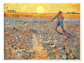 Poster Premium  Sower at Sunset - Vincent van Gogh