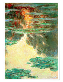 Poster Premium Water Lilies