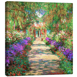 Tela  A Pathway in Monet's Garden - Claude Monet