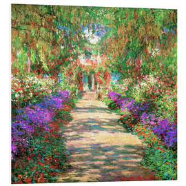 Forex  A Pathway in Monet's Garden - Claude Monet
