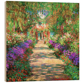 Legno  A Pathway in Monet's Garden - Claude Monet