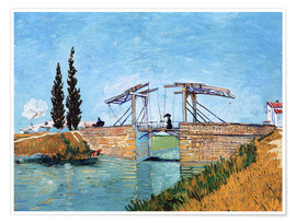 Poster  The drawbridge in Arles - Vincent van Gogh