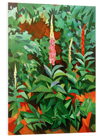 Stampa su schiuma dura  Foxgloves in the Garden - August Macke