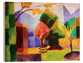 Stampa su legno  Garden beside the lake Thun - August Macke