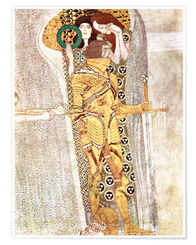 Poster Premium  The Knight - Gustav Klimt