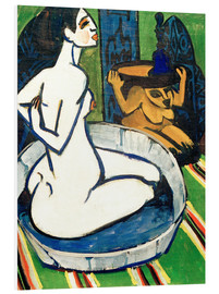 Stampa su PVC  Female nude in the tub - Ernst Ludwig Kirchner