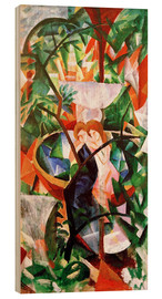 Stampa su legno  Girls in front of the Fountain - August Macke