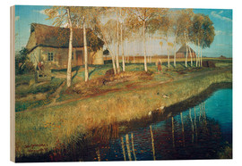 Stampa su legno  Autumn Morning in the Moor - Otto Modersohn