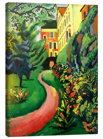 Stampa su tela  Our garden with blooming discounts - August Macke