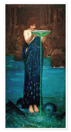 Poster Premium  Circe Invidiosa - John William Waterhouse