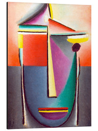 Stampa su alluminio  Abstract head: Life and death - Alexej von Jawlensky