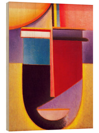Stampa su legno  Abstract Head: Sun - color - life - Alexej von Jawlensky