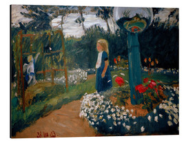 Stampa su alluminio  Elsbeth in the Garden - Otto Modersohn