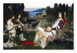 Poster Premium  Santa Cecilia - John William Waterhouse