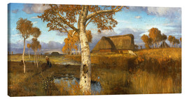 Stampa su tela  The Marsh in Autumn - Otto Modersohn