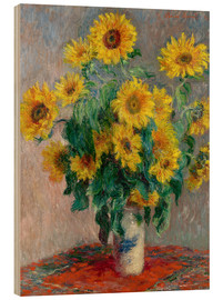Legno  Bouquet des soleils - Claude Monet