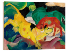 Legno  Cows, yellow, red, green - Franz Marc