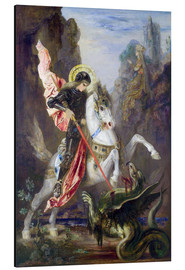 Stampa su alluminio  St. George and the Dragon - Gustave Moreau