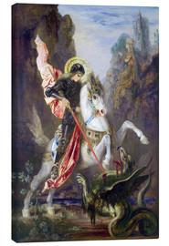Tela  St. George and the Dragon - Gustave Moreau