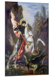 Stampa su schiuma dura  St. George and the Dragon - Gustave Moreau