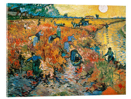 Vetro acrilico  The red Vineyard - Vincent van Gogh
