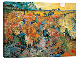 Stampa su tela  The red Vineyard - Vincent van Gogh