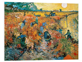 Stampa su schiuma dura  The red Vineyard - Vincent van Gogh