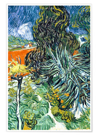 Poster Premium The Garden of Dr. Gachet in Auvers