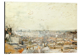 Stampa su alluminio  Roofs of Paris from Montmartre - Vincent van Gogh