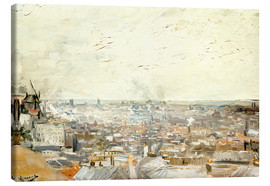 Stampa su tela  Roofs of Paris from Montmartre - Vincent van Gogh