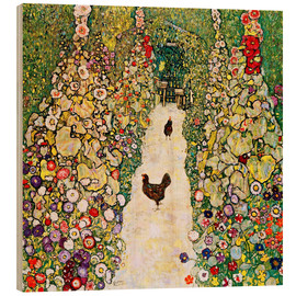 Legno  Garden Path with Chickens - Gustav Klimt