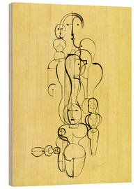 Stampa su legno  The Abstract - Oskar Schlemmer