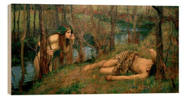 Stampa su legno  Naiade - John William Waterhouse