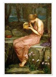 Poster Premium  Psiche apre la scatola d'oro - John William Waterhouse
