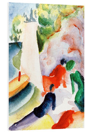 Stampa su schiuma dura  Picnic on the Beach - August Macke