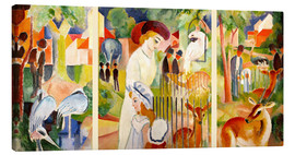 Tela  The Zoo - August Macke