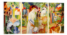 Stampa su schiuma dura  The Zoo - August Macke